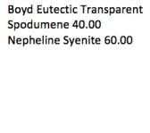 Boyd Eutectic Transparent
