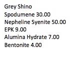 Grey Shino