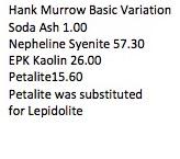 Hank Murrow Basic Variation