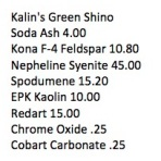 Kalin Green Shino