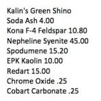 Kalin Green Shino