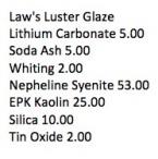 Law Luster Glaze