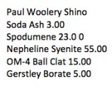 Paul Woolery Shino