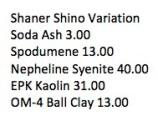 Shaner Shino Variation